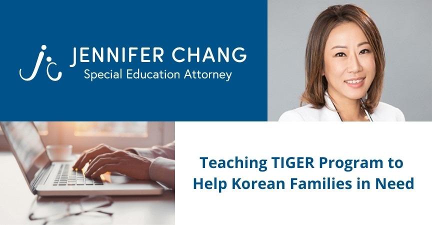 Jennifer Chang Teaching TIGER Program to Help Korean Families in Need